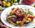 ⑤【料理のみ】豪華お肉料理Wメインとオマールエビ風味濃厚チーズトマトフォンデュコース<全7品>