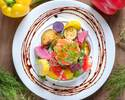 ⑫【最大3時間飲み放題付】豪華お肉料理Wメインとオマールエビ風味濃厚チーズトマトフォンデュランチ 全7品