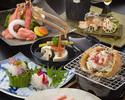 Live hairy crab and shabu shabu course B (Crab size is large)