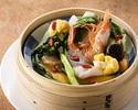 [Lunch set] 4,000 yen steamed basket with Shanghai Crab Miso