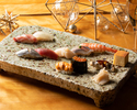 【Christmas Dinner】Authentic Japanese Sushi Dinner Course for Christmas JPY16,000