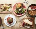 【土日祝限定乾杯スパークリング付】前菜盛り、魚料理と魚介のパエリアなどシーフードを楽しむ全5品ランチ