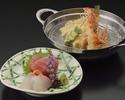 季節のおまかせ天ぷら定食