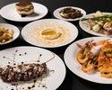 【Dinner】前菜3種にパスタ、メインに葡萄牛の全7皿ディナー