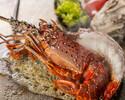 ランチ【伊勢海老コース】ズワイ蟹、伊勢海老、国内牛のサーロインなど高級食材をご堪能