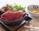 "【Dinner - Online Limited Deal】""Matsusaka Wagyu Beef Sukiyaki Set"" with Complimentary Glass Champagne"