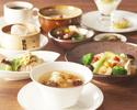 【パンダ月餅のお土産付き!】薬膳スープで身体の芯から温まるランチ☆熱菜二品に選べる豆乳粥とご飯おかわり自由