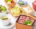 【ランチ×小会席】牛サーロイン肉、海老と野菜の天婦羅盛り合わせなど全7品ランチ星空小会席コース3,300円