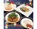 【クリスマス2019】Bコース 乾杯1ドリンクとデザートプレート付!フカヒレのスープ茶碗蒸し仕立て/牛バラ肉の醤油煮込み 全7品