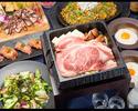 金・土・祝前日『肉寿司』と『焼きすき』の和牛極みコース]お食事6品+3時間+アルコール&ソフトドリンク飲み放題込み