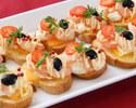 【京橋ディナー】オマール海老のロースト&生ハム付!約40種類の季節のお料理をブッフェ形式で堪能!