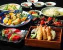 【土日祝限定】【2H飲放付】当店自慢の天ぷら・お刺身など全8品 「旬菜コース」 4,400円