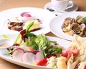 【6月平日WEB予約限定】前菜やサラダを盛合せた特製アンティパストプレート・パスタ・デザート盛合せに食後のカフェ付