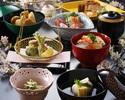 【森伊蔵も選べる2ドリンク付!】山菜の天ぷらやちらし寿しなど、春を感じる特別懐石【3月~4月末まで】