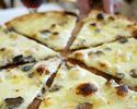 【スペシャリテを堪能!】前菜+窯焼きピッツァ2種+本日のパスタ+本日のメイン+ドルチェ! ピッツァイオーロお奨め!トリュフピッツァプラン! ※フリードリンク2時間付き