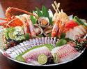 名物皿鉢料理!鰹のたたきと天然クエなど【土佐皿鉢(さわち)コース】