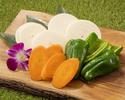 野菜セット(人参1/5本・ピーマン2個・玉ねぎ1個)
