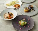 ◆旬の食材を使ったお任せディナーコース◆クラシックフレンチをベースにその日の旬の厳選食材を使ったディナーコースをお楽しみいただけます。