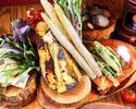 【お料理のみでお得♪】ケール食べ放題が嬉しい◎採れたて無農薬野菜のまるごとバーニャカウダコース