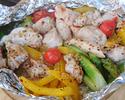 彩り野菜とチキンのホットサラダ(2人前)