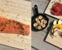 Aコース:北欧風サーモングリル&牛ステーキセット