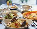 【平日:イタリアンデリプレートと選べるメイン】+食後のコーヒー、ハーブティー飲み放題