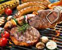 地下でお肉を買ってBBQプラン(Premium 飲み放題込)シャンドン+白州ハイボールが飲み放題!【2H制】