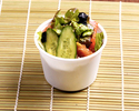 Choregi salad separately