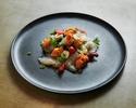【テイクアウト】ウニと鮮魚とモッツァレラチーズのカルパッチョ
