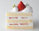【デリバリー】ストロベリーショートケーキ1ピース ¥650(税抜)
