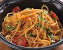 渡り蟹トマトソーススパゲッティーニ