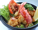 オマール海老と帆立のベニエ丼