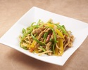 Stir-fried shredded pork and peppers