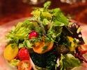 【テイクアウト】こだわり有機野菜のグリーンサラダ (フレンチドレッシング付) ¥1,800