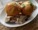 Croquette of raw ham