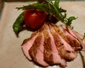 """""""HARU course"""" Main dish is charcoal grilled SHIMANTO pork"""