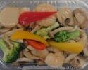 【テイクアウト】海老とホタテとブロッコリーの炒め