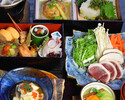 KYOTO KAISEKI LUNCH BOX COURCE WITH DUCK AND SEASONABLE VEGETABLE HOTPOT