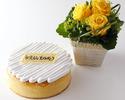 東京スーパーチーズケーキ(21cm)+プレート+フラワーアレンジメント