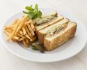 【TAKEOUT】スモークサーモン&エッグサラダサンドウィッチ Smoked salmon & Egg salad sandwich