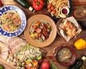 ★2時間飲み放題Skewプラン★前菜5種盛合せからパスタにメイン、デザートまで全9品ボリューム満点!!