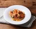 【テイクアウト】海老とほうれん草のトマトクリームスパゲッティーニ