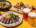 【BEER TERRACE 2020】ヒューガルデン含む1.5時間飲み放題付!前菜盛り合わせやアンガス牛の炭火焼きなど7品