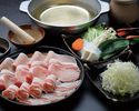 【食べ放題】豚肉・笹切りネギ・野菜のしゃぶしゃぶ