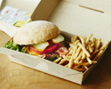 <Takeout・BEBU>【Grilled Beef Burger (including french fries)】BeBu Classic Burger🍔🍟