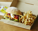 <Takeout・BEBU>【Grilled Beef Burger (including french fries)】Andale-Gringo🍔🍟