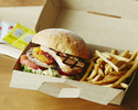 <Takeout>【Grilled Beef Burger (including french fries)】 Okinawa🍔🍟
