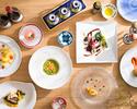 ディナーコースB¥8000(税・サ別)9皿+お茶菓子&カフェセット