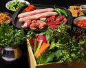 【ディナータイム専用】食べ放題×飲み放題♪たっぷり野菜と3種のサムギョプサル!食べ飲み放題ルーフトップBBQプラン♪