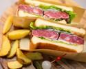 【テイクアウト】千葉県産'しあわせ絆牛'サーロインステーキサンドウィッチ